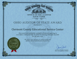 Clermont County ESC Receives Auditor of State Award